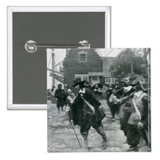 The Arrival of Stuyvesant in New Amsterdam 2 Inch Square Button