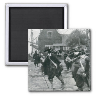 The Arrival of Stuyvesant in New Amsterdam 2 Inch Square Magnet