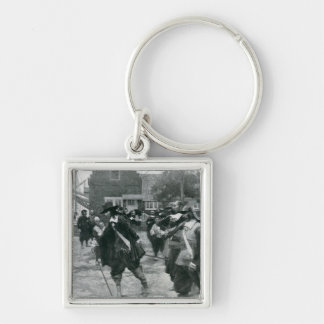 The Arrival of Stuyvesant in New Amsterdam Keychain