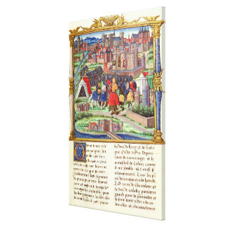 The Arrival of the Count of Charolais Canvas Print