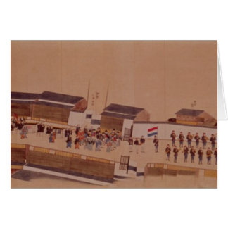 The Arrival of the Dutch in Japan,, 18th century Card