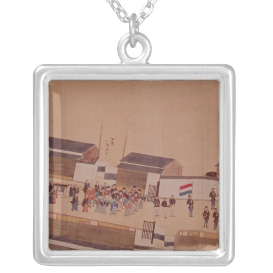 The Arrival of the Dutch in Japan,, 18th century Silver Plated Necklace