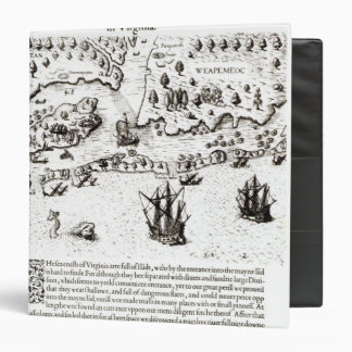 The Arrival of the Englishmen in Virginia 3 Ring Binder
