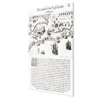 The Arrival of the Englishmen in Virginia Canvas Print