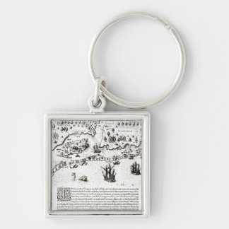 The Arrival of the Englishmen in Virginia Keychain