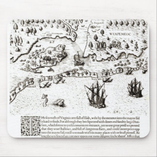 The Arrival of the Englishmen in Virginia Mouse Pad