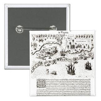 The Arrival of the Englishmen in Virginia Pinback Button