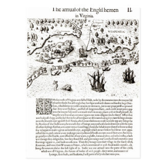 The Arrival of the Englishmen in Virginia Postcard