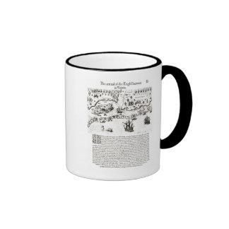 The Arrival of the Englishmen in Virginia Ringer Mug
