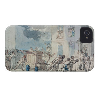 The Arrival of the Fire Engine (w/c, pen and ink, Case-Mate iPhone 4 Case