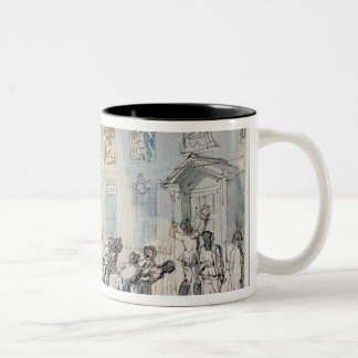 The Arrival of the Fire Engine (w/c, pen and ink, Two-Tone Coffee Mug