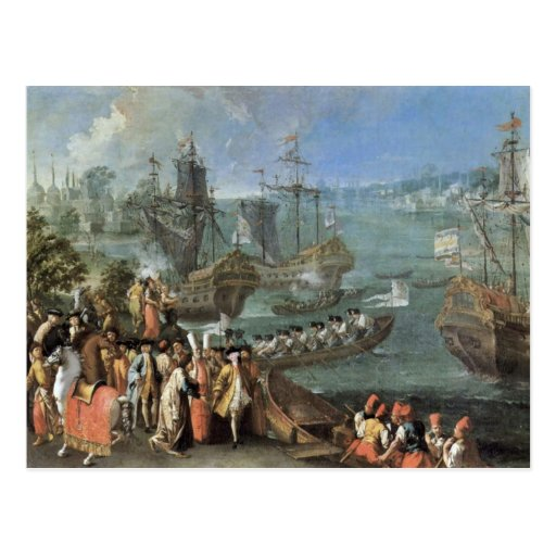 The Arrival Of The French Ambassador In Istanbul Postcard