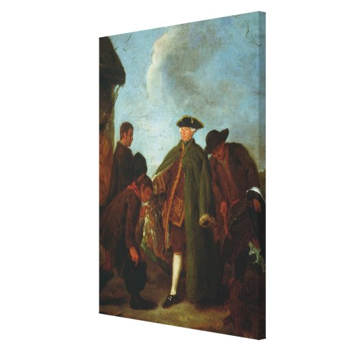 The Arrival of the Nobleman (oil on canvas) Canvas Prints