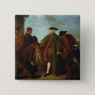 The Arrival of the Nobleman (oil on canvas) Button
