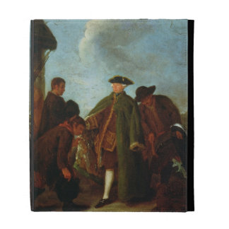 The Arrival of the Nobleman (oil on canvas) iPad Folio Case