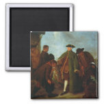 The Arrival of the Nobleman (oil on canvas) Refrigerator Magnets