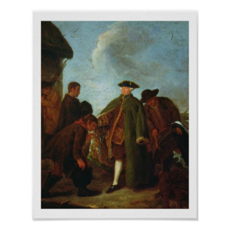 The Arrival of the Nobleman (oil on canvas) Poster