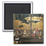 The Arrival of the Portuguese in Japan 2 Inch Square Magnet