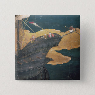The Arrival of the Portuguese in Japan 2 Pinback Button