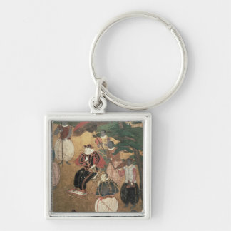 The Arrival of the Portuguese in Japan Keychain