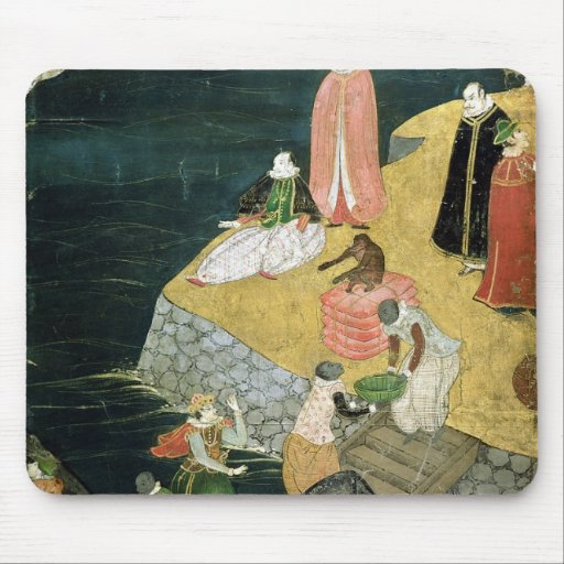 The Arrival of the Portuguese in Japan Mouse Pad