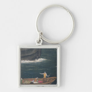 The Arrival of the Portuguese Japan, small cargo Keychain