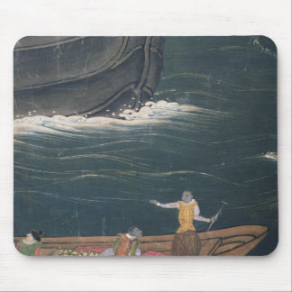 The Arrival of the Portuguese Japan, small cargo Mouse Pad