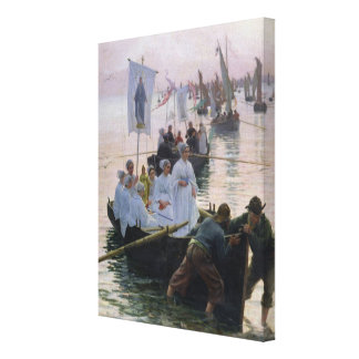 The Arrival of the Procession of St. Anne Canvas Print