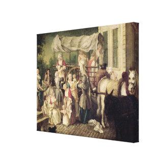 The Arrival of the Wetnurses Canvas Print
