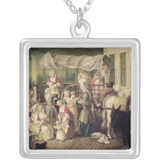 The Arrival of the Wetnurses Silver Plated Necklace