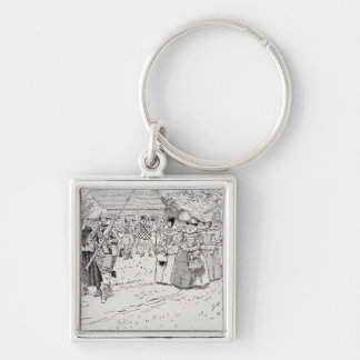 The Arrival of the Young Women at Jamestown Keychain