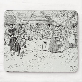The Arrival of the Young Women at Jamestown Mouse Pad