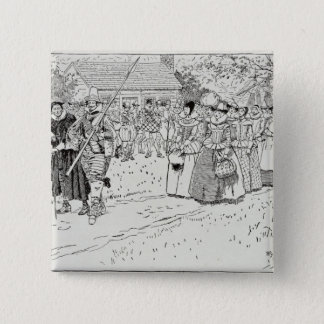 The Arrival of the Young Women at Jamestown Pinback Button