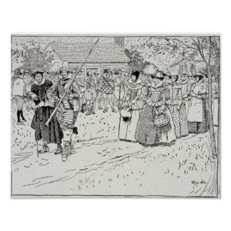 The Arrival of the Young Women at Jamestown Poster