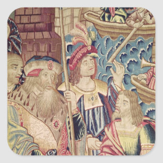 The Arrival of Vasco da Gama  in Calicut Square Sticker