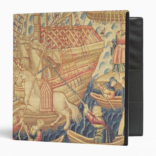 The Arrival of Vasco de Gama  in Calicut Vinyl Binders