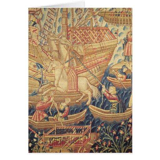 The Arrival of Vasco de Gama  in Calicut Greeting Card