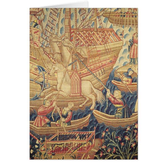 The Arrival of Vasco de Gama  in Calicut Card