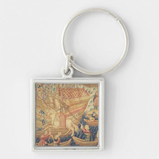 The Arrival of Vasco de Gama  in Calicut Keychain