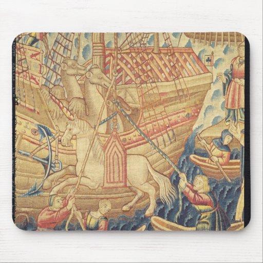 The Arrival of Vasco de Gama  in Calicut Mousepad