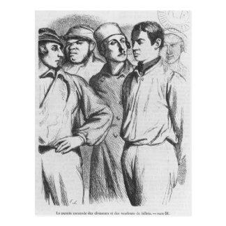 The arrogant squad of hired applauders postcard