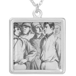 The arrogant squad of hired applauders silver plated necklace