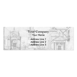 The Arsenal: the Water Entrance by Canaletto Business Cards