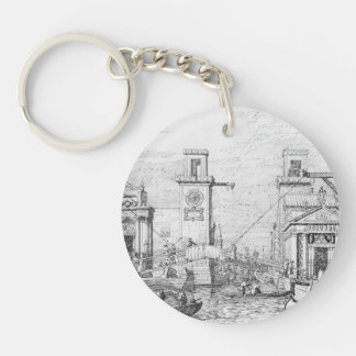 The Arsenal: the Water Entrance by Canaletto Keychains