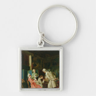 The Art Critics, 1878 Keychain