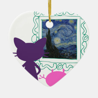 The Art Curator for Kids Critters Ceramic Ornament