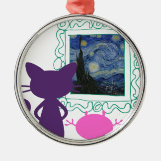 The Art Curator for Kids Critters Metal Ornament