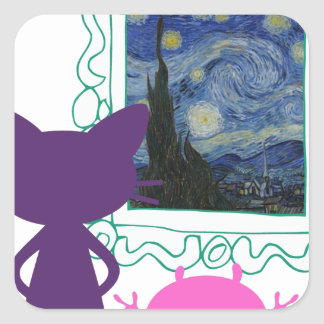 The Art Curator for Kids Critters Square Sticker