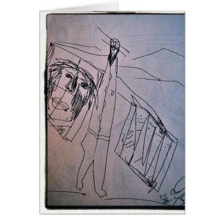 the art dealer greeting card