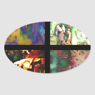 The Art Fair Oval Sticker